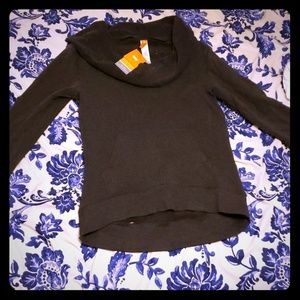 Gray cowl neck hoodie